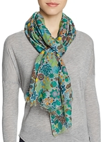 Altea Embroidered Floral Print Scarf