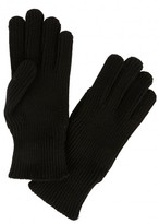 Moncler Black Ribbed Wool Gloves