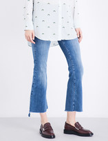 MiH Jeans Stepped-hem slim-fit high-rise jeans