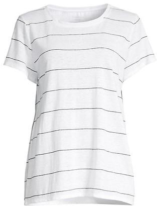 Eileen Fisher Striped Organic Linen T-Shirt