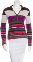 M Missoni Long Sleeve Knit Wool Top