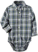 Carter's Plaid Button-Front Bodysuit