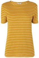 LK Bennett Aloha Yellow Linen Jersey Top