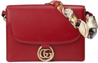 Gucci Medium leather shoulder bag with scarf