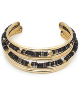 Alexis Bittar Liquid Gold Masai Two Part Collar with Custom Sequin Strands Necklace