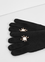 MANGO Long Knit Gloves