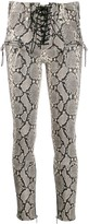 Unravel Project snakeskin effect trousers