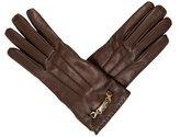 Gucci Leather Logo-Embellished Gloves