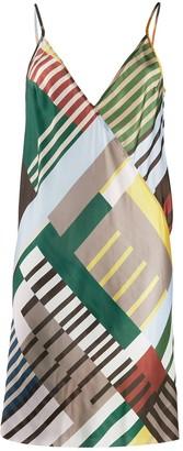 Rick Owens Uxmal print slip dress
