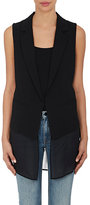 R/R Studio by Robert Rodriguez R/R STUDIO BY ROBERT RODRIGUEZ WOMEN'S LAYERED CHIFFON VEST-BLACK SIZE 4