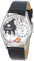 Whimsical Watches Women's S0510001 Music Piano Black Leather Watch