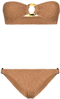Hunza G Gloria bandeau knitted bikini set