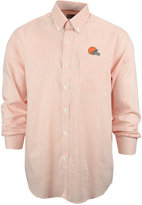 Cutter & Buck Men's Cleveland Browns Tattersall Dress Shirt