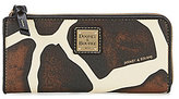 Dooney & Bourke Serengeti Collection Giraffe-Print Zip Clutch