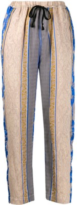 Forte Forte Paneled Pattern Cropped Trousers