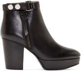 Acne Studios Black Leather Orbit Boots