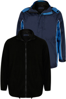 Yours Clothing BadRhino Navy & Blue 3 in 1 Jacket