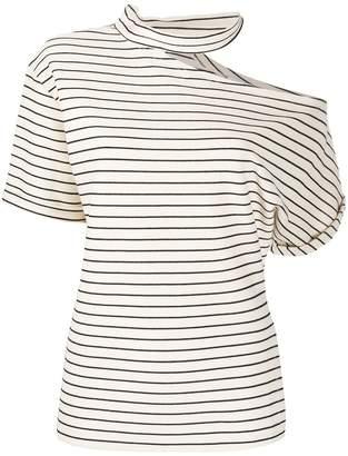 Cavallini Erika striped cut-out T-shirt