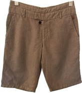 BOSS Beige Cloth Shorts for Women