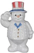 Lenox Snowman of the Month July Patriot Snowman