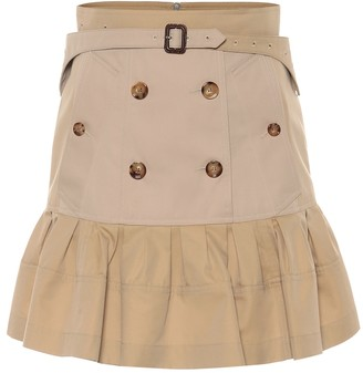 Burberry Suzy trench cotton miniskirt