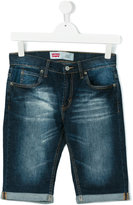 Levi's Kids - faded denim shorts - kids - Cotton/Spandex/Elastane - 14 yrs