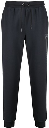 EA7 Emporio Armani Logo Print Track Pants