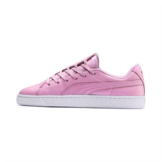 Puma Basket Crush Emboss Heart Womens Sneakers