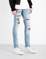 Amiri Art Patch Slim-fit Skinny Jeans
