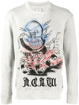 Miharayasuhiro painted sweatshirt - men - Cotton - 46