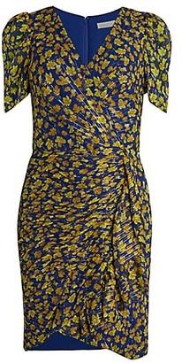 Shoshanna Reinosa Silk-Blend Wrap-Effect Dress