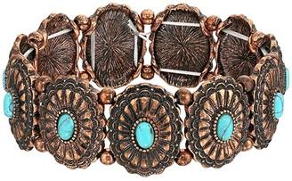 M&F Western Western Concho Turquoise Bracelet (Copper) Bracelet