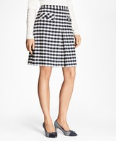 Brooks Brothers Gingham Boucle Skirt