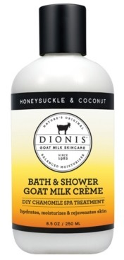 Dionis Bath and Shower Goat Milk Creme, Honeysuckle and Coconut