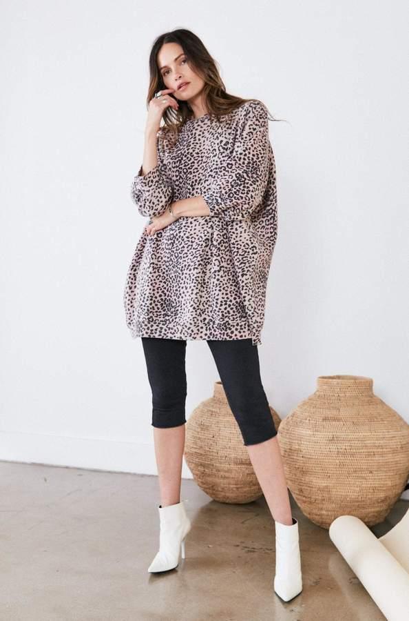 Rag Doll Ragdoll SUPER OVERSIZED SWEATSHIRT Pink Leopard