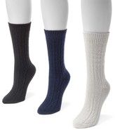 Muk Luks Cable Boot Socks - Pack of 3