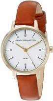 French Connection Women's FC1256TG Analog Display Quartz Brown Watch