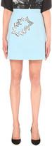 Christopher Kane Embellished wool A-line skirt