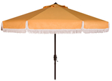 Safavieh 9' Milan Fringe Crank Outdoor Umbrella