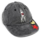 Steve Madden Gray Rocket Patch Baseball Cap