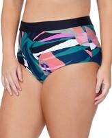 Thumbnail for your product : Raisins Curve Trendy Plus Size Island Crystal Cove Printed Bikini Bottoms Women's Swimsuit