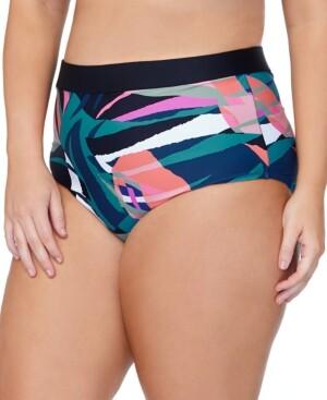 Raisins Curve Trendy Plus Size Island Crystal Cove Printed Bikini Bottoms Women's Swimsuit