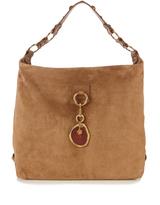 Lanvin Hobo large suede shoulder bag