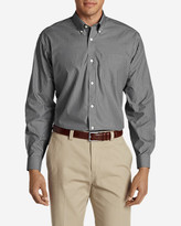 Eddie Bauer Men's Wrinkle-Free Pinpoint Oxford Classic Fit Long-Sleeve Shirt - Seasonal Pattern