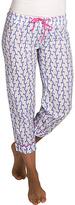 Malabar Bay Lavender Vivienne Organic Cotton Capri Lounge Pants