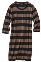 Mossimo Women's Plus-Size Long-Sleeve Sweater Dress - Brown/White