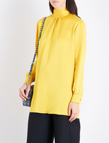 Valentino High-neck loose crepe top
