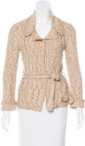 Chanel Metallic Belted Cardigan