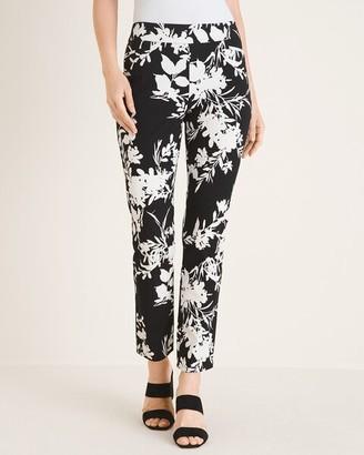 So Slimming Brigitte Floral-Print Slim Ankle Pants