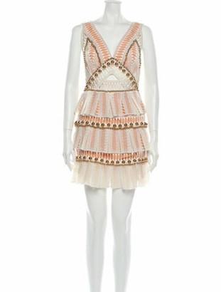 Thurley Lace Pattern Mini Dress White